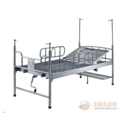 佛山生产不锈钢单摇护理床 手提二折床