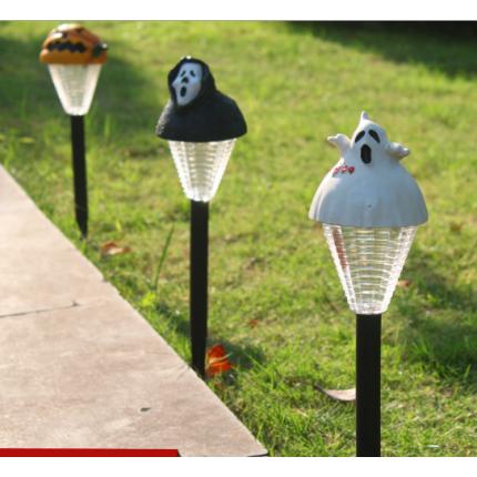 太阳能迷你草坪地插灯万圣节户外LED灯装饰节能氛围路灯