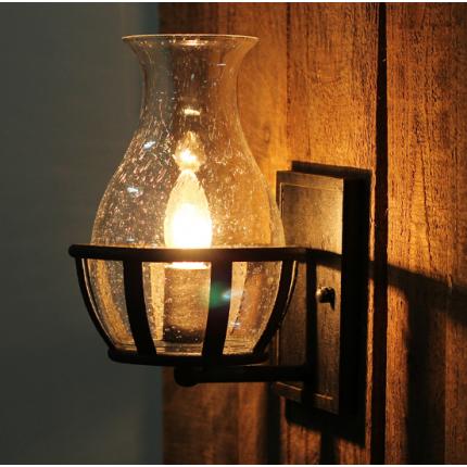 美式复古壁灯Loft餐厅玄关卧室床头灯美式过道仓库阳台墙壁灯