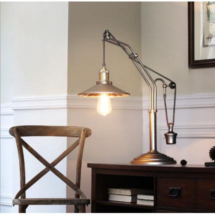 设计师美式工业风格复古升降台灯简约个性创意书房工作室装饰灯具