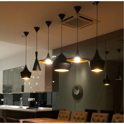餐厅loft复古工业酒吧饭店简约艺术创意单头铝材吧台乐器吊灯