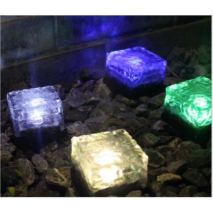 太阳能冰花砖灯 玻璃地埋灯 LED地砖灯 户外太阳能装饰灯