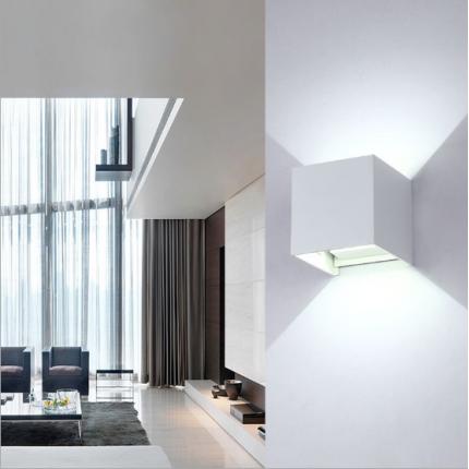 户外方形防水壁灯庭院可调光角度墙壁客厅壁灯酒店床头壁灯