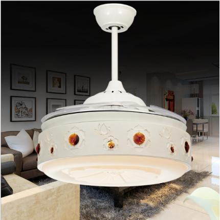 吊扇灯隐形灯客厅餐厅家用带LED简约现代42寸节能风扇吊灯