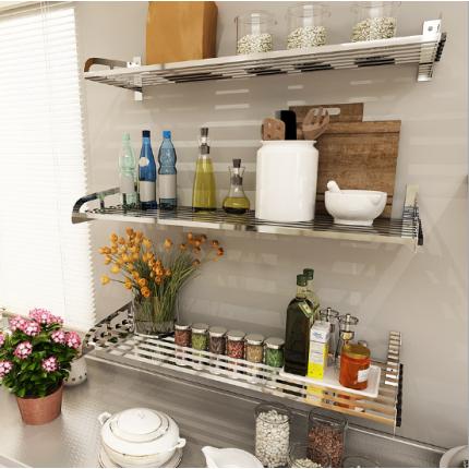 304不锈钢厨房置物架壁挂微波炉架烤箱家居用品收纳架C款