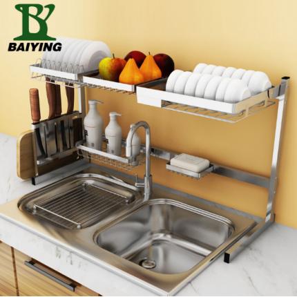厨房置物架落地水槽沥水收纳架