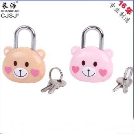 小熊礼品/工艺挂锁钥匙开/卡通可爱挂锁 CH-bear造型