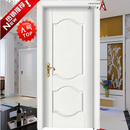 浮雕/拼接/室内/烤漆实木复合门环保白色木门#LY-2001