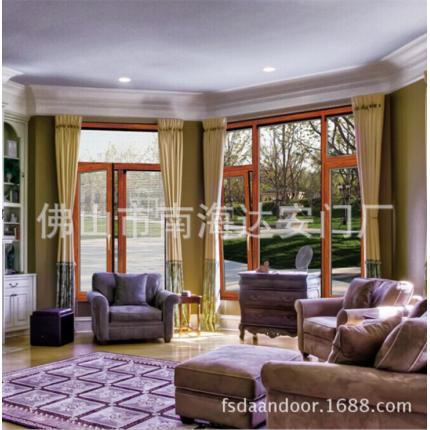 欧式铝包木 实木窗 木包铝 铝木复合门窗别墅专用门窗