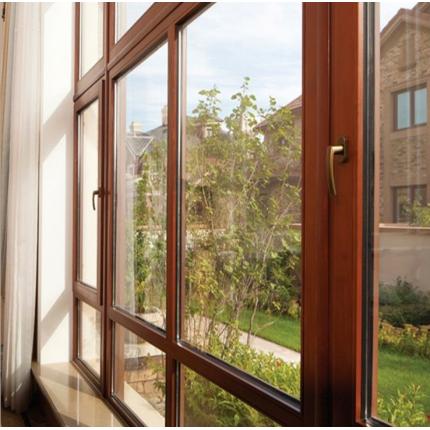 华墅建材高档木铝复合门窗 断桥铝门窗 别墅平开实木窗隔音门窗