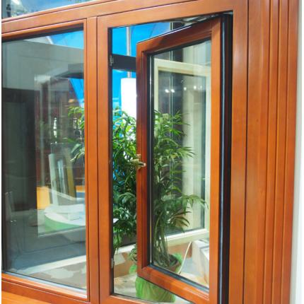 铝木复合门窗 高端纯实木窗 内开内倒窗 百叶窗