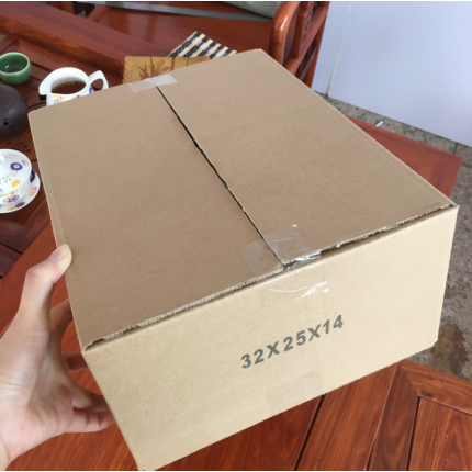 32*25*14cm三层B瓦楞加硬内盒鞋子打包纸箱 电商纸箱