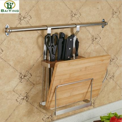 不锈钢厨房置物架壁挂刀板架放插刀架刀具收纳菜板菜刀砧板收纳架