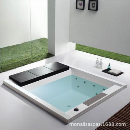 正品亚克力浴缸家用1.9米水疗冲浪嵌入式按摩浴缸M-2042