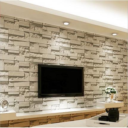 3D立体电视背景墙壁纸立体仿砖纹墙纸服装店面装修墙纸