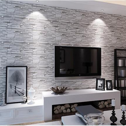 复古仿砖块石头纹墙纸客厅3D电视墙壁纸服装店面工程饭店墙纸
