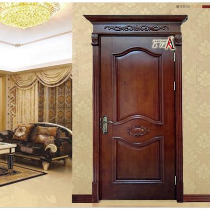 橡胶木原木门 高档别墅装修用门 实木油漆门订做