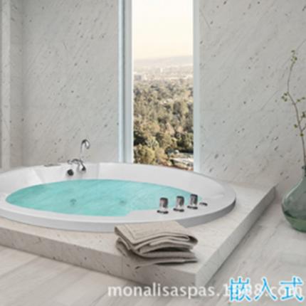 亚克力圆形按摩浴缸 多人亚克力冲浪浴缸M-2057