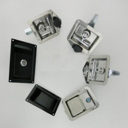 浙江优质黑色喷塑无孔U型锁安装工程车机箱锁机罩锁