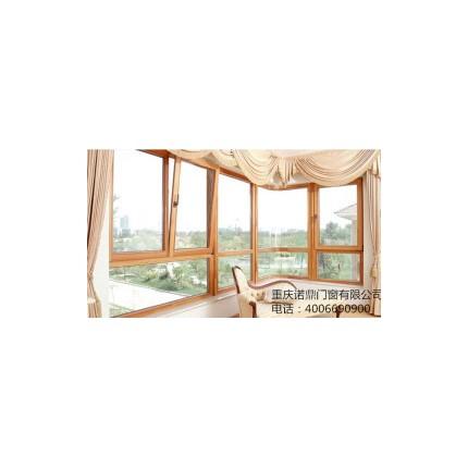 重庆诺鼎铝包木门窗上下悬窗别墅封阳台超强隔音门窗高档隔音门窗
