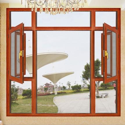 重庆诺鼎门窗厂家专业定制断桥铝合金平开门窗