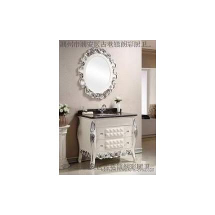 厂价直销朗彩卫浴8044实木浴室柜 高亮光钢琴烤漆 时尚潮流浴室家具 卫浴镜