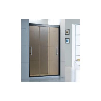 不锈钢淋浴房型材三门联动浴室玻璃隔断一字
