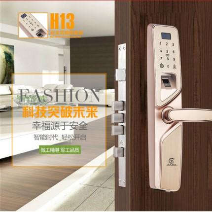 放龙科技H13智能锁指纹锁密码锁刷卡锁遥控锁防盗门锁