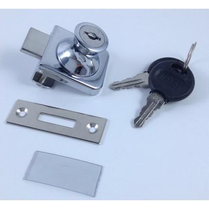 上田金属厂家直销 407玻璃柜锁 单开玻璃橱窗锁 展示柜锁