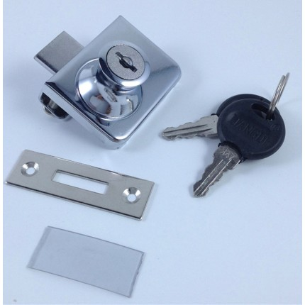上田金属厂家直销409 玻璃柜门锁 展示柜橱窗锁 双开玻璃