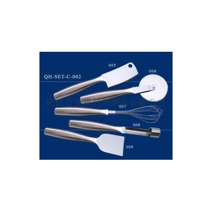 高档不锈钢空心柄厨房小工具小厨具小菜刀多功能 工具套装