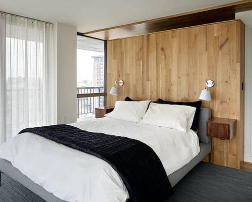床头背景墙装修效果图 卧室床这样装饰才好看!