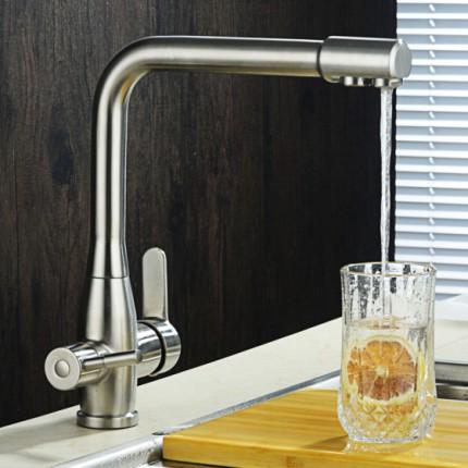 绮美斯卫浴304不锈钢厨房水龙头洗菜盆水槽纯净水直饮水旋转水龙头