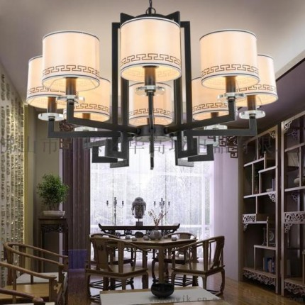 新中式吊灯华丽客厅灯具现代简约卧室餐厅灯饰