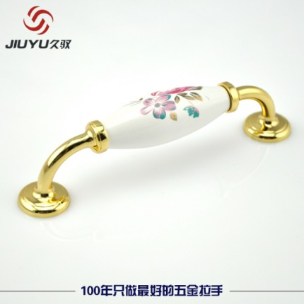厂家直销橱柜陶瓷拉手 橱柜拉手品牌 鸿景源C24182