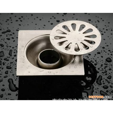 卫生间不锈钢加厚地漏 不锈钢厨房卫浴地漏 不锈钢洁净方形地漏