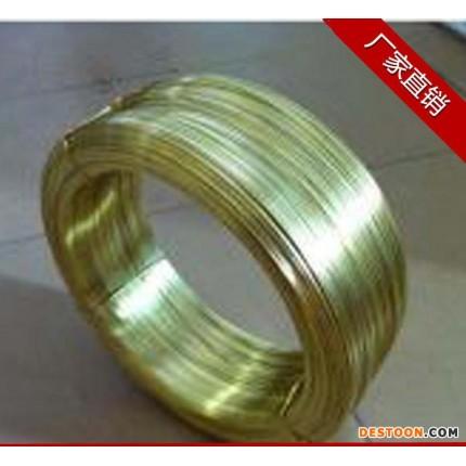 厂家电源适配器五金插头片用铜片原材料 黄铜扁线1.45*6.