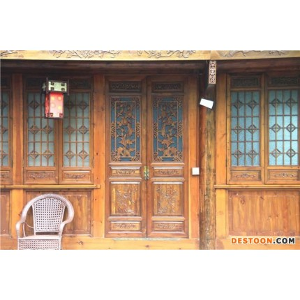 柏森家居   门窗   仿古门窗、金丝楠木家具、中式家具厂家、四川木屋厂家、仿古建筑厂家