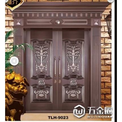 铜锣汉铜铝门  庭院大门 别墅大门 门中门 复合门 艺术门窗