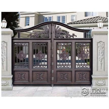 庭院大门  铜铝门 真铜门 艺术门窗 艺术门窗 庭院护栏 地弹簧门等系列产品