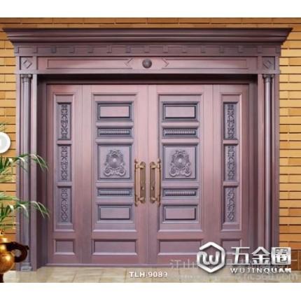铜门 真铜门 铜铝门 庭院大门 铸铝防爆门 艺术门窗 地弹簧门等系列产品