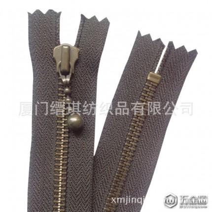 5号ykk金属青古铜水滴拉头服装箱包拉锁辅料批发 可定制生产 拉链