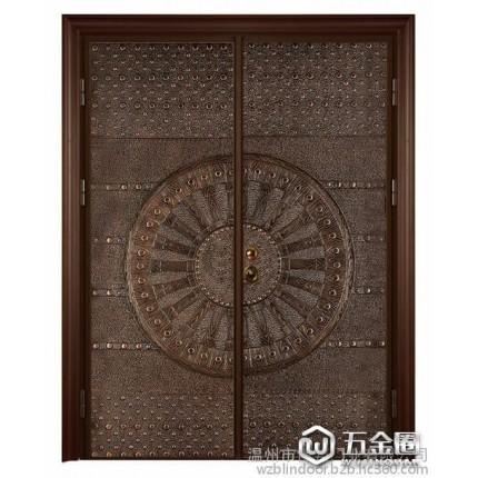 博邦 铸铝门 对开门系列 防盗门   金属门  意式装甲门  国际标准  厂家直销