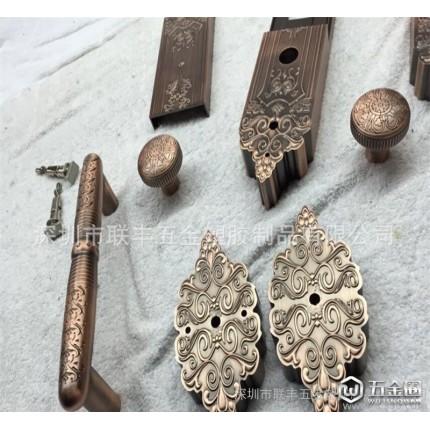 电镀红铜 卧室房间实木门锁 欧式门锁室内执手门锁