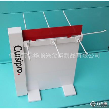 台式铁质小挂架  厨房小工具架子 厨房用具展示架 JHSX-819
