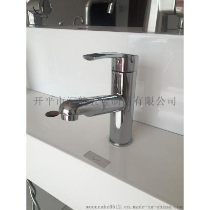 工厂价 五金卫浴锌合金铜芯洗手盆面盆抽拉多功能冷热水龙头11001