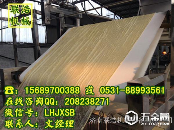 大型豆油皮机生产的豆油皮展示