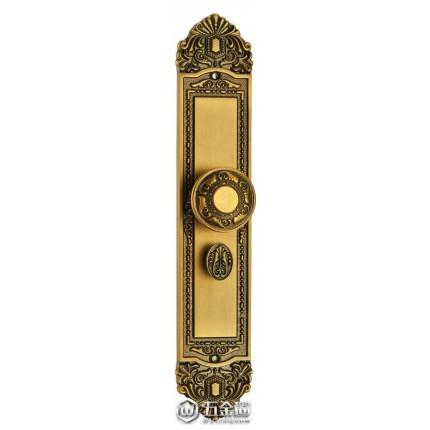 金色纯铜豪华五金门锁 配钥匙 门锁安装简单的防盗室内门锁