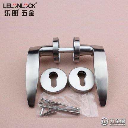 乐朗RLH-09不锈钢精铸实心门锁把手304不锈钢实木门锁执手室内门锁拉手工程配套五金