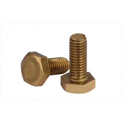 旺中旺铜质外六角螺丝 螺栓 螺钉 黄铜螺丝钉铜螺栓机牙
